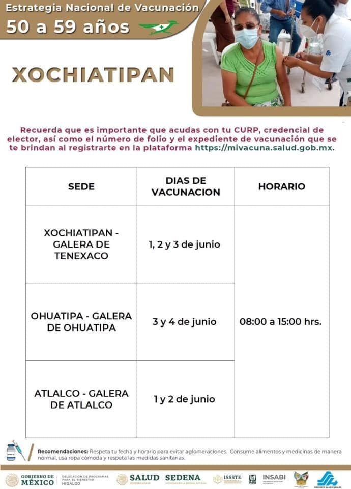 Calendario de Vacunación contra el COVID-19